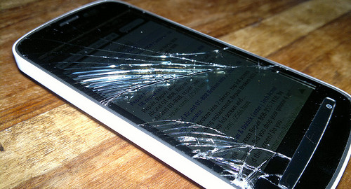 Broken phone picture