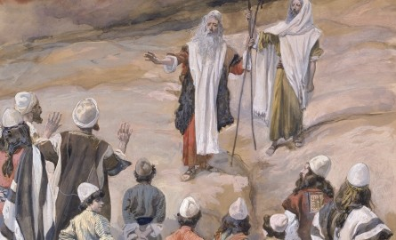 Picture of Moses leading Israel